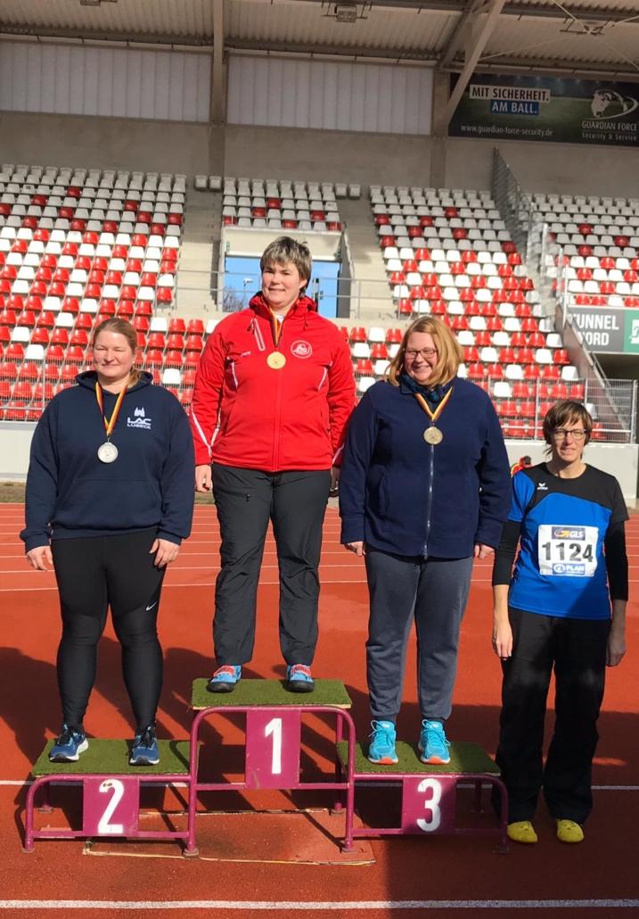 Bei den Winterwurf-Meisterschaften der Senioren in Erfurt belegte Melanie Wieland den vierten Platz.